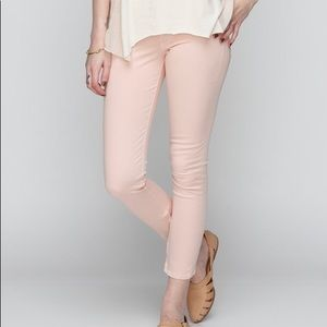 Rag + Bone Blush Zipper Capri in Pink Skinny Jeans